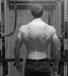 John Barban muscular back not skinny